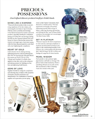HARPER'S BAZAAR FEATURES THE LUXURIOUS, NOURISHING DIAMOND INFUSED 24K GOLD SERUM BY FOREVER FLAWLESS