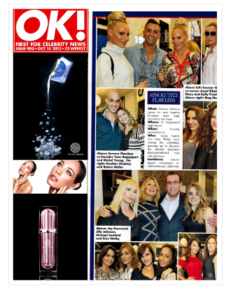 OK! MAGAZINE FEATURES THE OPENING EVENT OF THE NEW FOREVER FLAWLESS BOUTIQUE IN LONDON