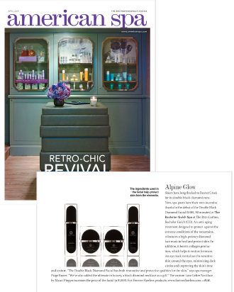AMERICAN SPA MAGAZINE FEATURES THE FOREVER FLAWLESS DOUBLE BLACK DIAMOND FACIAL AT THE BACHELOR GULCH SPA AT THE RITZ-CARLTON, BACHELOR GULCH (CO)