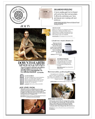 DRESS TO KILL MAGAZINE FEATURES THE EXFOLIATING DIAMOND INFUSED FACIAL PEELING GEL BY FOREVER FLAWLESS