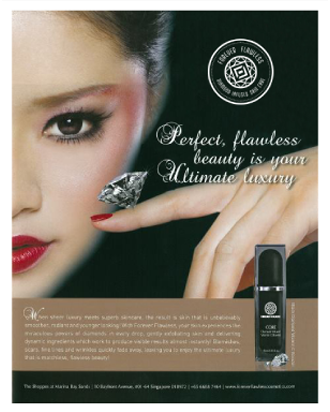 THE SHOPPES AT MARINA BAY SANDS MAGAZINE FEATURES THE EXQUISITE AGE-DEFYING DIAMOND INFUSED VITAMIN C BOOSTER BY FOREVER FLAWLESS